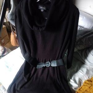 Turtleneck Long Sleeve Dress with belt